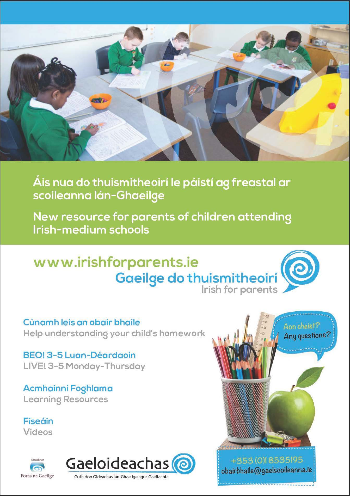 Irish for Parents Page 1
