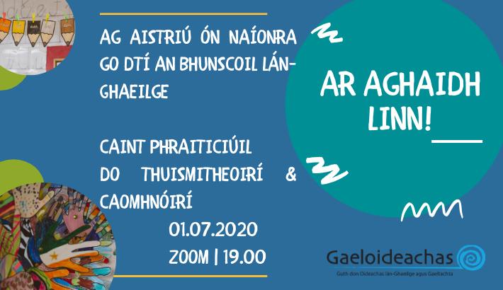 Ag Aistriú: Caint Phraiticiúil do Thuismitheoirí agus Chaomhnóirí