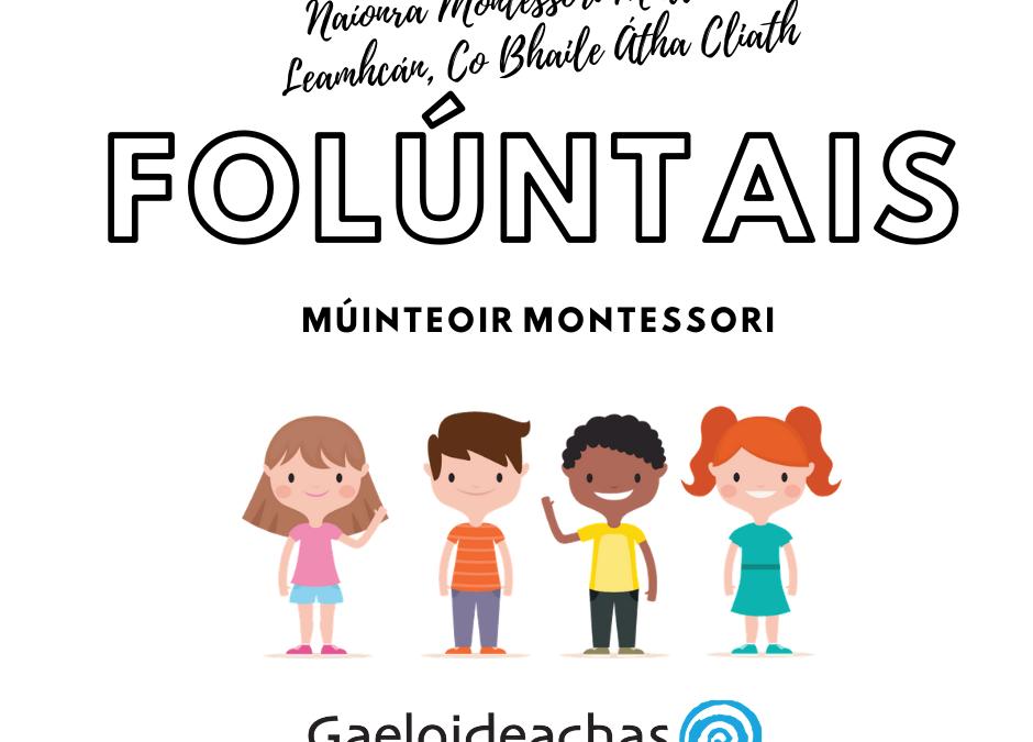 Vacancy: Naíonra Montessori, Lucan